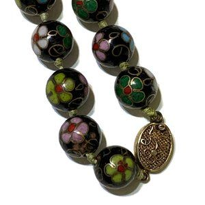 Jewelry - VTG Chinese Export cloisonne necklace